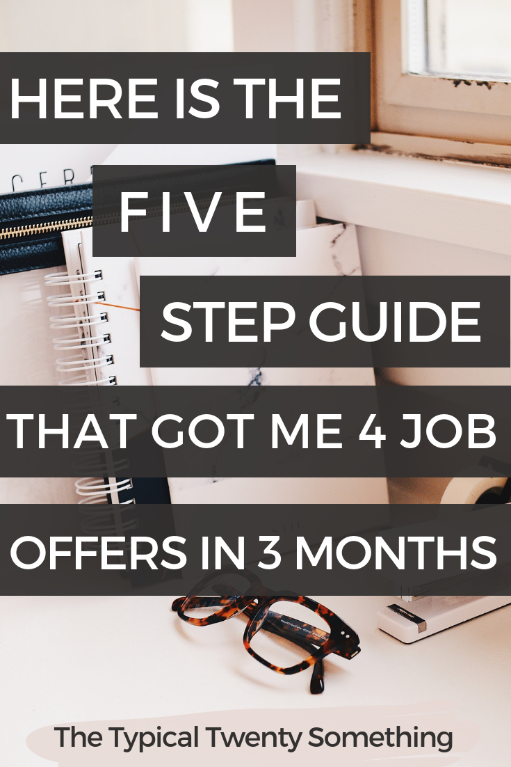 Here's a full guide on how to land a new job quickly with these 5 tips! This career advice includes free template for your job application!