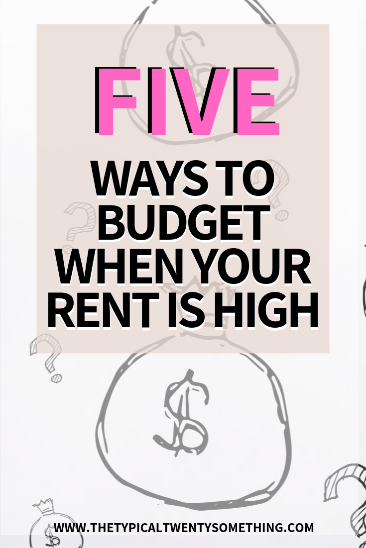 Five ways to budget when your rent is super high, budgeting is hard! These budgeting tricks helped me pay my $1,600 rent right after moving to San Francisco. Follow these tips and you'll never have budgeting problems again! Budgeting, rent, rent poo, money, investing
