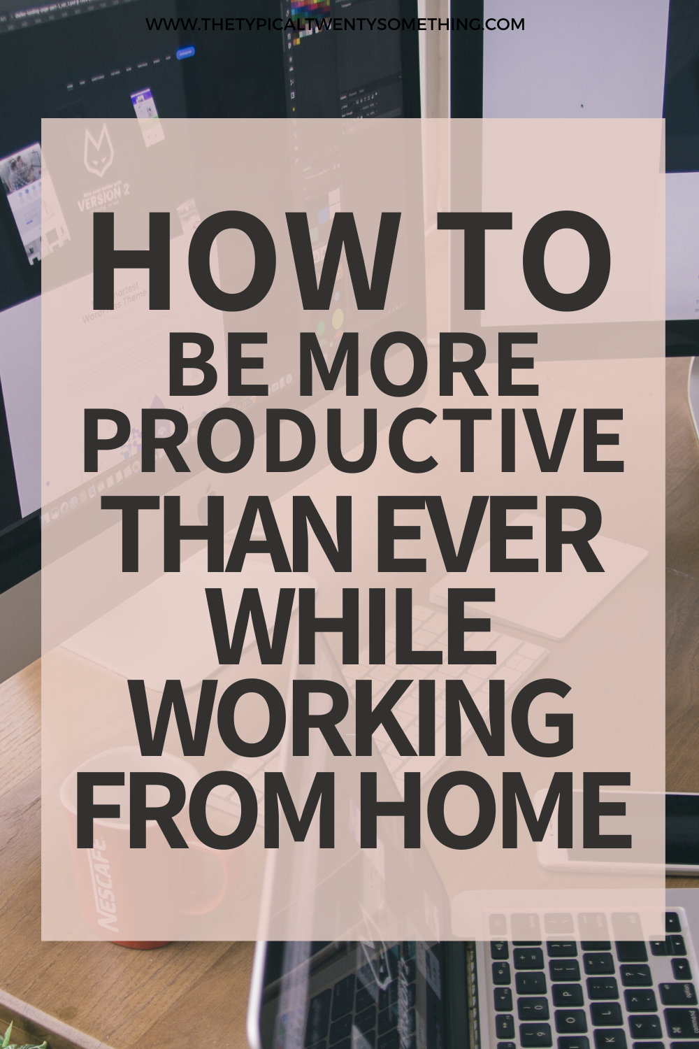 8 ways to be productive while you work from home, regardless of if you are working full-time, freelancing, try these daily, healthy habits for new routines and tricks for working from home. Being productive while working from home is not easy! These tricks will help you stop procrastination and up your focus, all while being happier working from work! You can succeed in your career working from home with these tips!